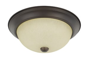 Capital Lighting Fixture 60W 2-Light Flushmount Ceiling Fixture in Bronze C219122BZ