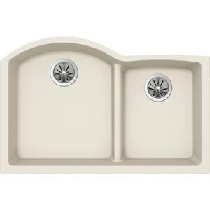 Elkay Quartz Luxe® 2-Bowl Undermount Kitchen Sink in Parchment (Less Hole) EELXHU3322RPA0
