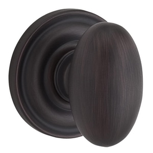 Baldwin Ellipse™ Privacy Door Knob in Venetian Bronze B9BR3530010