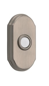 Baldwin Arch Bell Button in Satin Nickel B9BR7017