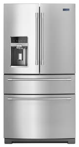 Maytag 26.17 cf French Door Refrigerator in Fingerprint Resistant Stainless Steel MMFX2676FRZ