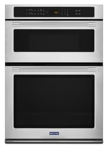 Maytag Wide Combination Wall Oven with True Convection in Fingerprint Resistant Stainless Steel with Grey MMMW9730FZ