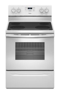 Whirlpool 47-7/8 x 29-7/8 in. 4.8 cf Freestanding Electric Range with Dual Radiant Element WWFE320M0E