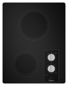 Whirlpool 2-Burner Electric Cooktop in Black WW5CE1522FB
