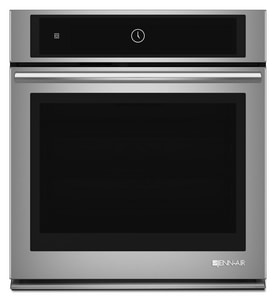 Jennair 27 in. Single Wall Oven with Convection System in Stainless and Black JJJW2427DS