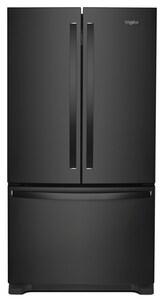 Whirlpool 35-5/8 in. 20 cf Counter Depth French Door Refrigerator in Black WWRF540CWH