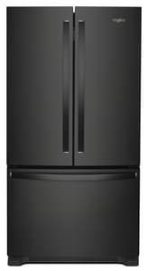 Whirlpool 35-5/8 in. 20 cf Counter Depth French Door Refrigerator in Black WWRF540CWHB