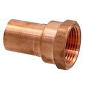 NIBCO Press System® 1/2 x 3/8 in. Fitting x FNPT Reducing Wrot Copper Extended Adapter NPC6032DC
