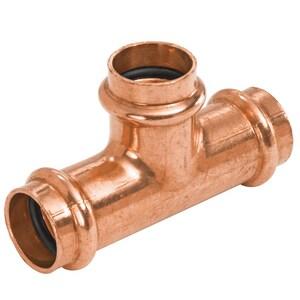 NIBCO Press System® 4 x 4 x 1-1/4 in. LD Press Reducing Copper Tee NPC611LDPPH