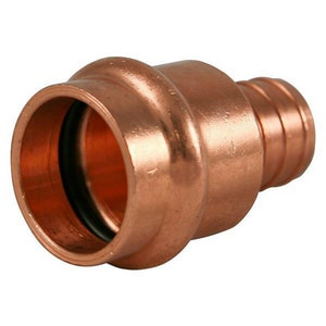 NIBCO Press System® 3/4 x 1/2 in. PEX x Press 200 psi Reducing Wrot Copper Adapter NPC604PLDFD