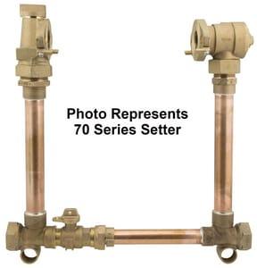 Ford Meter Box 1-1/2 in. D P Swivel Brass Straight Meter Setter FVH7612B1166NL