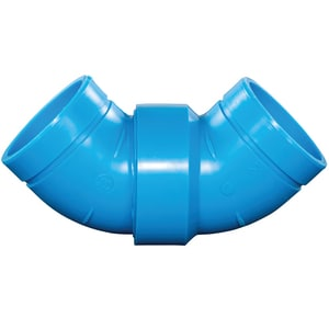 Orion Fittings 4 in. Mechanical Joint Straight and Long Sweep Polypropylene 90 Degree Elbow O71002
