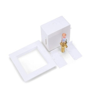 Oatey Ice Maker Box with Water Hammer Arrest in White O39152