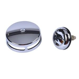Dearborn Brass Metal Toe-Tap Drain in Polished Chrome DEAK23TB