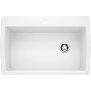Blanco America Diamond™ 33-1/2 x 22 in. 1 Hole Composite Single Bowl Drop-in Kitchen Sink in White B440195
