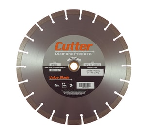 Cutter Diamond Products Value 12 in. Concrete, Masonry and Paver Cement Cutter Blade CVB12125 at Pollardwater