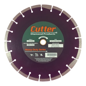 Cutter Diamond Products 12 in. Asphalt, Block and Concrete Cement Cutter Blade CHH712125 at Pollardwater