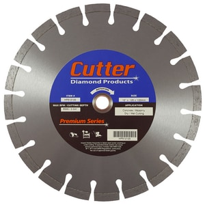 Cutter Diamond Products Premium Series 12 in. Reinforced Concrete, Concrete Pipe, Pavers and Masonry Cement Cutter Blade CHP512125 at Pollardwater
