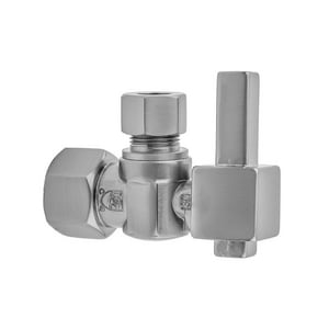 Jaclo Industries 616-6 1/2 in x 3/8 in Lever Handle Angle Supply Stop Valve in Matte Black J616-6-MBK