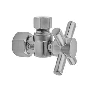 Jaclo Industries 626-4 1/2 in Cross Handle Angle Supply Stop Valve in Satin Nickel J626-4-SN