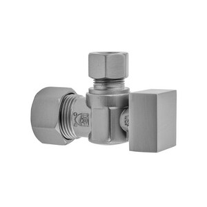 Jaclo Industries 621-7 5/8 in x 3/8 in Square Handle Angle Supply Stop Valve in Satin Nickel J621-7-SN