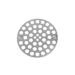 Jaclo Industries 4 x 1/8 in. Center Screw Shower Drain Plate in Matte Black J6238-MBK