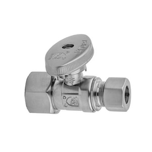 Jaclo Industries 618-8 3/8 in Oval Handle Straight Supply Stop Valve in Polished Nickel J618-8-PN