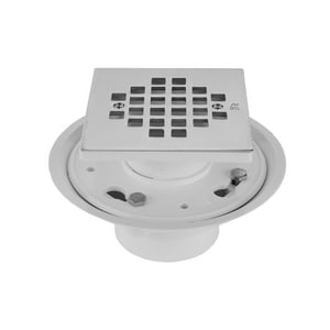 Jaclo Industries 4-1/4 in. Complete Square Shower Drain in Polished Nickel J86564-PN