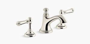 Kohler Artifacts® Two Handle Widespread Bathroom Sink Faucet in Vibrant Polished Nickel K72759-SN