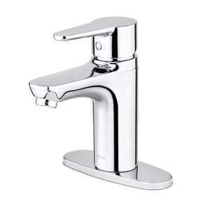 Pfister Pfirst Series™ Single Handle Centerset Bathroom Sink Faucet in Polished Chrome PLG142060