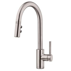 Pfister Stellen™ 1.8 gpm 1-Hole Pull-Down Kitchen Faucet with Single Lever Handle in Stainless Steel PLG529SAS