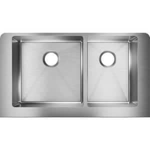 Elkay Crosstown® 35-7/8 x 20-1/4 in. Stainless Steel Double Bowl Apron Front Kitchen Sink EECTRUF32179R