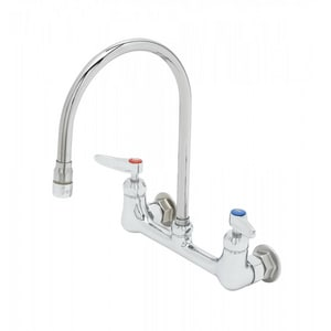T&S Brass 2-Hole Wall Mount Pantry Faucet in Polished Chrome TB0230134XACR