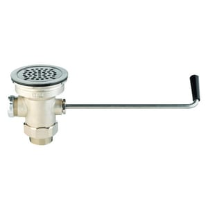 T&S Brass NPT Twist Waste Valve With Adapter With Overflow Outlet and Cap TB3940