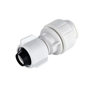 John Guest USA Speedfit® 1/2 in. CTS x NPSF Straight Polypropylene Single-Packed Union Swivel Connector with EPDM O-Ring Seal JPEISTC2034P