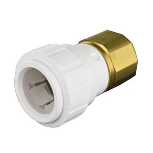 John Guest USA Speedfit® 3/4 in. CTS x NPSF Straight Polypropylene Single-Packed Union Connector with EPDM O-Ring Seal JPSEI452826P