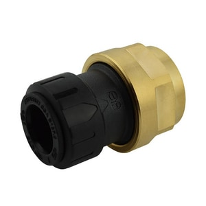 John Guest USA ProLock™ 1/2 x 3/4 in. CTS x NPS Reducing Polypropylene Female Connector with Brass Nut JPSEI602036E