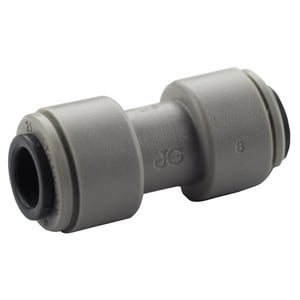 John Guest USA Speedfit® 5/16 in. OD Tube Straight Plastic and Acetal Copolymer Bulkhead Union Connector in Grey JPM0408S