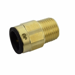 John Guest USA ProLock™ 1/2 in. CTS x NPT Straight Brass Push-Connect Male Connector JMWI0LFE