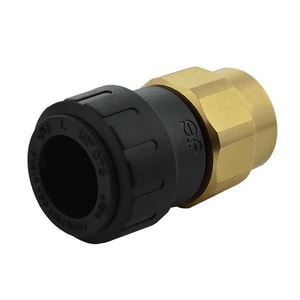 John Guest USA ProLock™ 1/2 in. CTS x NPS Straight Polypropylene Female Connector with Brass Nut JPSEI602034E