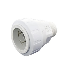 John Guest USA Speedfit® 1 x 3/4 in. CTS x MNPT Reducing Polypropylene Union with EPDM O-Ring Seal Connector JPSEI013626