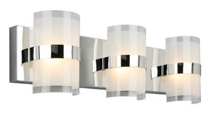 Design House Haswell 3-Light 18W Integrated LED Vanity Light in Polished Chrome D577783