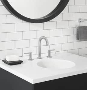 American Standard Studio® S Two Handle Widespread Bathroom Sink Faucet in Polished Chrome A7105801002