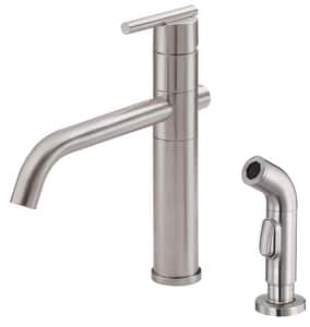 Danze Parma™ 1.75 gpm 2-Hole Kitchen Sink Faucet with Single Lever Handle in Stainless Steel DD400058SS