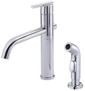 Danze Parma™ 1.75 gpm 2-Hole Kitchen Sink Faucet with Single Lever Handle in Polished Chrome DD400058