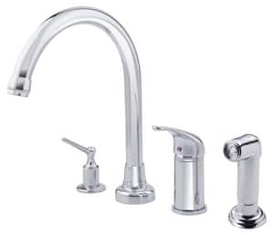 Danze Melrose® Single Handle Kitchen Faucet in Polished Chrome DD409112