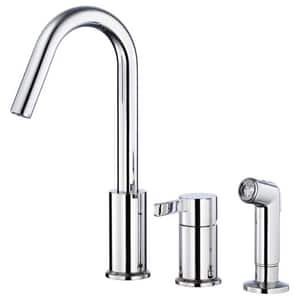 Gerber Plumbing Amalfi™ 3-Hole Kitchen Faucet with Single Lever Handle and Sidespray in Polished Chrome DD409130