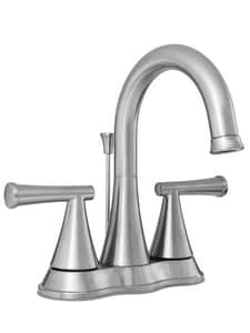 PROFLO® Willett Two Handle Centerset Bathroom Sink Faucet with Pop-Up Drain Assembly in Brushed Nickel PFWSC2840ZBN