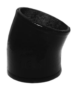 Tyler Pipe 3 in. No-Hub Cast Iron 1/16 Degree Bend TNH2M