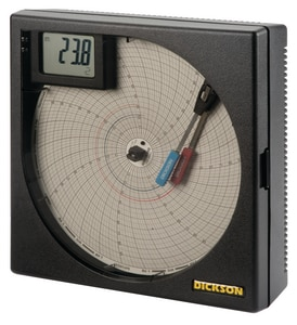 Dickson Company 8 in. Universal 2-Input Chart Recorder DET855 at Pollardwater